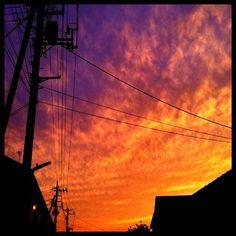 いつかの夕焼け #magichour テスト  #電線電柱部 2011.06.03