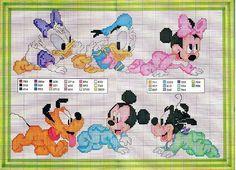 schema punto croce topolino minnie baby | Hobby lavori femminili - ricamo…