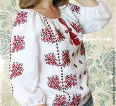 Купить Вышиванка женская ЯСНА Этническая одежда Украинская вышиванка Льняная - вышиванка женская