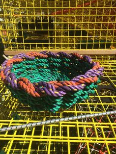 A personal favorite from my Etsy shop https://www.etsy.com/listing/226194370/recycled-lobster-float-rope-basket