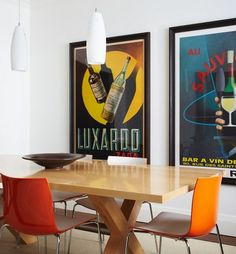Home Design and Interior Design Gallery of Captivating Large And Neatly Framed P. - Home Design and Interior Design Gallery of Captivating Large And Neatly Framed Posters Exude A Slee - Vintage Food Posters, Vintage Advertising Posters, Vintage Posters, Interior Design Gallery, Modern Interior Design, Modern Decor, Modern Interiors, Diy Interior, Furniture Projects