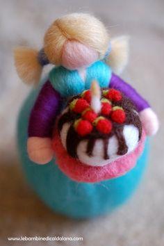 Feliz cumpleaños, hadas-Waldorf inspirado en lana