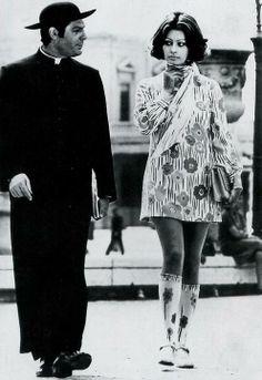Marcello Mastroianni and Sophia Loren in The Priest's Wife (1970)