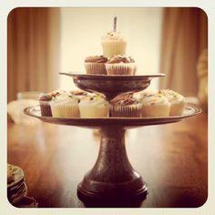 © Karen Hill Photography  mini cupcake tower
