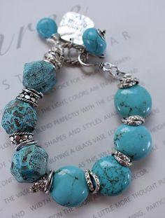 bracelet turquoise bracelet sea bracelet cuff bracelet