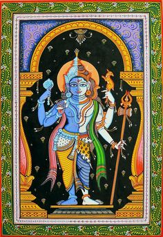 Find exquisite Patachitra Paintings & Art from the villages of India. Check out our unique collection of Folk Art & Paintings at ExoticIndia. Indian Traditional Paintings, Indian Art Paintings, Kerala Mural Painting, Madhubani Painting, Phad Painting, Spiritual Paintings, Lord Shiva Painting, Madhubani Art, Indian Folk Art