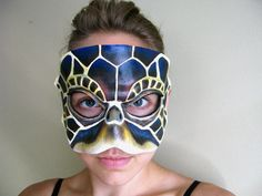 Turtle Leather Mask  Sea Turtle  Unique Costume  by LovelyLiddy, $100.00
