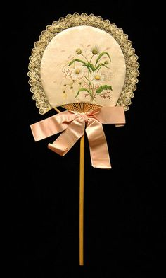 Fixed Fan, American, ca.1880–89, Brooklyn Museum Costume Collection at The Metropolitan Museum of Art.