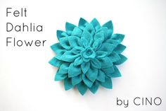 want to make this on canvas for Layla's room - craftiness is not optional: felt dahlia flower