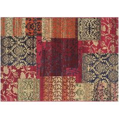 Safavieh Monaco Distressed Ornate Patchwork Rug, Multicolor