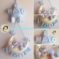 Creazioni di Mary Handmade su Bebuù: Fiocco nascita Luna orsetto baby