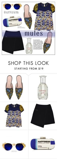 """Slip 'Em On: Mules"" by pat912 ❤ liked on Polyvore featuring Alberta Ferretti, Tommy Hilfiger, French Connection, MARC CAIN, Sarah's Bag, mules and polyvoreeditorial"