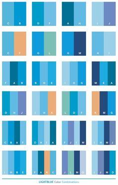 Color Schemes Light Blue Combinations Palettes For Print