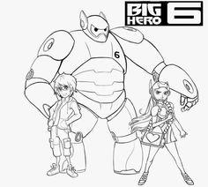 big hero 6 colorir