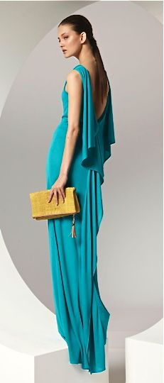Escada for the maids. love how simple and elegant this dress is