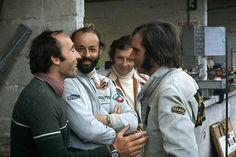 Frank Williams, Henri Pescarolo, Jean Pierre Beltoise e Emerson Fittipaldi