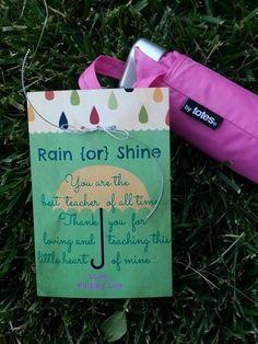 Umbrella teacher gift end if the school year #teacherappreciationgifts