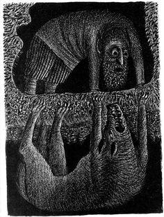 Художник Борис Забирохин - 15 Августа 2014 - Коллективный блог - Бесполезный сайт Russian Folk, Russian Art, Dark Art, Folklore, Printmaking, Fantasy Art, Fashion Art, Fairy Tales, Ink Pen Drawings