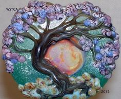 Cherry Blossom Tree handmade lampwork bead