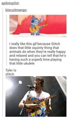I love Tyler and i love stitch