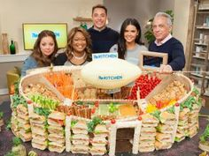 Check out the #snackadium on Food Networks #thekitchen. What a great idea for Super Bowl!