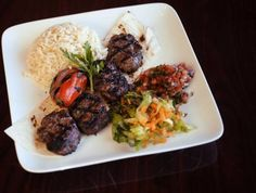 pistachio patties | Pistachio kofte -- grilled patties of ground lamb enriched with ground beef...