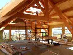 Wood Barns with Living Quarters | Living quarters, post and harvest. Lancaster county, pa are oak ...