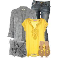 Spring Yellow & Gray