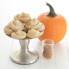 Paleo Pumpkin Spice Meringues have only 5 ingredients --egg white, maple syrup, cinnamon, nutmeg and ginger. An easy, yet elegant gluten-free dessert.
