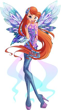 Winx Club - Bloom Tynix - Couture CGI by Feeleam on DeviantArt Bloom Winx Club, Cartoon Cartoon, Fire Fairy, Les Winx, Club Outfits For Women, Club Poster, Muse Art, Club Design, Fire Dragon