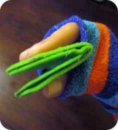Como hacer un titere de calcetin