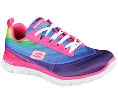 12067 Pink Multi Skechers Shoes Women's Memory Foam Sport Flex Sole Comfort Mesh #SKECHERS #Athleticsneaker