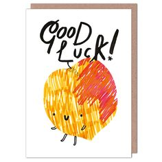 Good Luck Peach by Alexandra Cook from Whale & Bird Good Luck Cards, Paperchase, Food Illustrations, Positive Vibes, Greeting Cards, Peach, Product Design, Whale, Behance