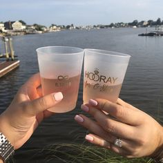 Custom engagement party cups from For Your Party. Engagement Party Planning, Engagement Parties, Just Engaged, Pop Bottles, Party Cups, For Your Party, How To Plan, Wedding, Ideas