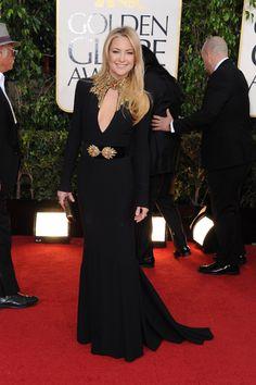 Kate Hudson in Alexander McQueen. Golden Globes 2013