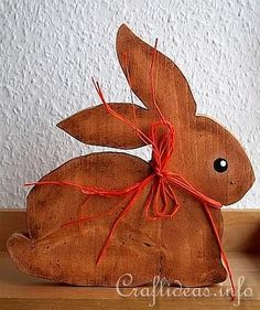 Wood Crafts for Spring and Easter - Cute Simple Bunny 2