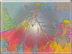 """'Glaskachel """"tanende Tulpenblüten""""' von Rudolf Büttner bei artflakes.com als Poster oder Kunstdruck $18.71"""