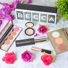 BECCA Brand Focus - Champagne Glow & Afterglow Palettes, Highlighters, Blush, Foundation + Giveaway