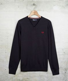 reputable site 0201d c7968 V Neck Sweater - Fred Perry Fred Perry, Tavaraa Ostaa, Mekot, Laivasto,