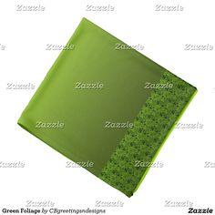 Green Foliage Bandana
