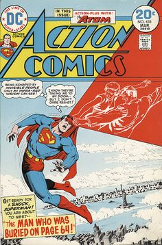 Vintage Comic - Invisible People Kidnapping Superman.
