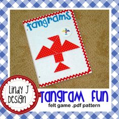 This would be so fun in a #quiet book. It's now available as an instant download and comes with all the printable puzzle cards. Felt Tangram Game .PDF Pattern with 2 color versions. $5.00, via Etsy.