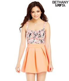 Solid Pleated Skater Skirt - Aeropostale Bethany Mota Collection