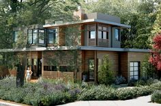 modern 2,700 sq ft home built by Irontown Homes in Utah, to be installed in Menlo Park, CA