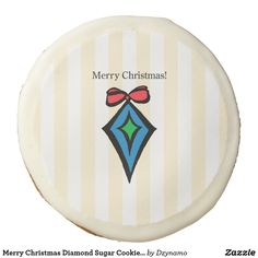 af8054eab87d80 Merry Christmas Diamond Sugar Cookie Yellow Christmas Sweets