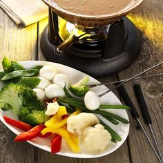Groentefondue in pindabouillon - recept - okoko recepten