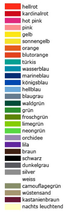Die große Farbvielfalt! wähle aus 30 ownband Farben oder sogar einer eigenen Pantone C Farbe. https://www.ownband.de