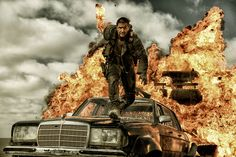 Hardy, as Max Rocktansky, says a fiery goodbye to the People Eater. Source: Warner Bros. via Bloomberg