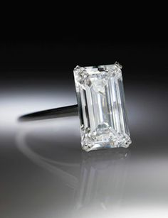 Rectangular Cut Diamond Ring Owned by Gloria Swanson