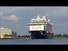 Mein Schiff 3: Erstes Auslaufen aus dem Hamburger Hafen am 2. Juni 2014